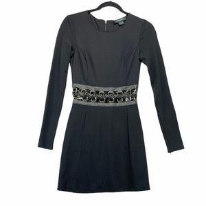 Marciano Lace Up Waist A Line Dress